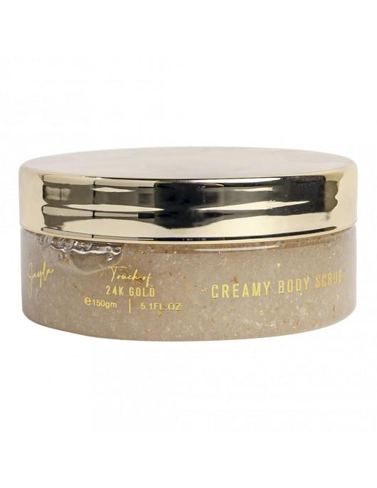 Creamy body scrub gold